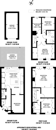 Large floorplan for Moore Park Road, Fulham, SW6