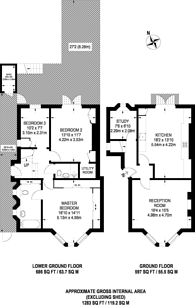 Large floorplan for St Albans Villas, Dartmouth Park, NW5