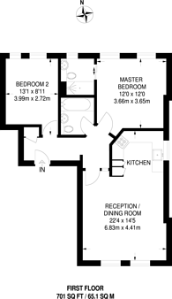 Large floorplan for Montpelier Road, Ealing Broadway, W5