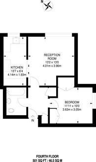 Large floorplan for Clifford Court, Magdalen Estate, SW18