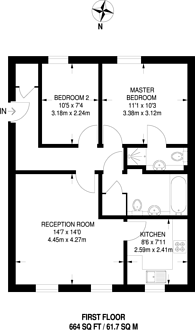 Large floorplan for Edith Cavell Way, Shooters Hill, SE18