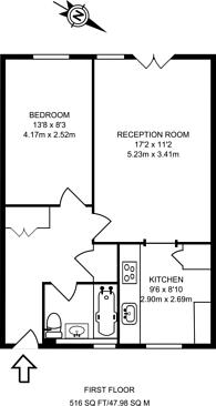 Large floorplan for Marcus Garvey Way, Herne Hill, SE24