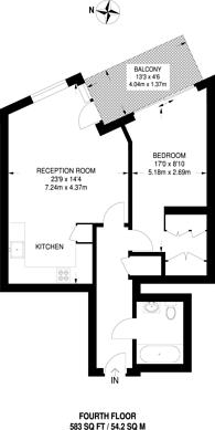 Large floorplan for Canary Wharf, Canary Wharf, E14