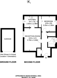 Large floorplan for Gumley Gardens, Isleworth, TW7
