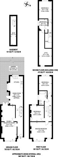 Large floorplan for Croxted Road, Herne Hill, SE21