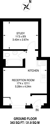 Large floorplan for Penge Road, South Norwood, SE25