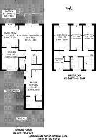Large floorplan for Reid Close, Northwood Hills, HA5