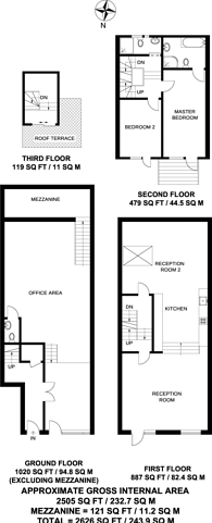 Large floorplan for County Street London, Elephant and Castle, SE1