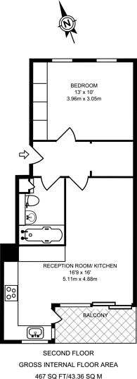 Large floorplan for Gascony Avenue, West Hampstead, NW6