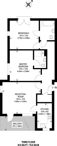 Large floorplan for Observer Close, Colindale, NW9