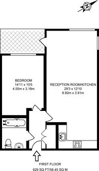 Large floorplan for Northchurch Road, Islington, N1