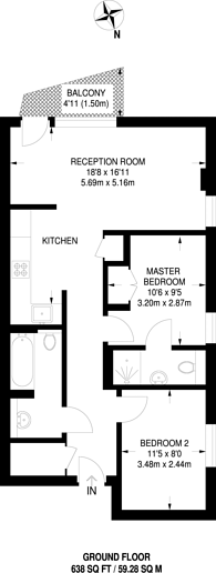 Large floorplan for Trevithick Way, Bow, E3