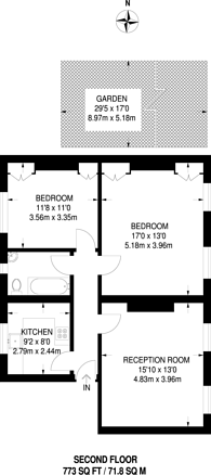 Large floorplan for Liverpool Road, Angel, N1