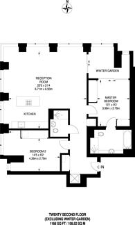Large floorplan for Upper Ground, South Bank, SE1