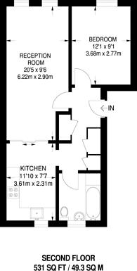 Large floorplan for Rotherfield Street, Islington, N1