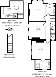 Large floorplan for Acton Lane, Acton Green, W4