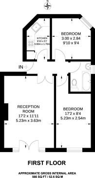 Large floorplan for Ellesmere Road, Grove Park, W4