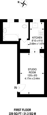 Large floorplan for Heath Street, Hampstead, NW3
