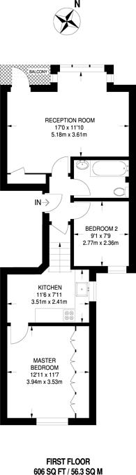Large floorplan for Fernhurst Road, Munster Village, SW6