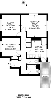 Large floorplan for Anerley Road, Crystal Palace, SE20