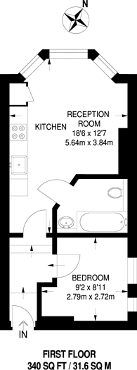 Large floorplan for Holmesdale Road, South Norwood, SE25