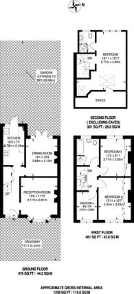Large floorplan for Cherry Tree Rise, Buckhurst Hill, IG9