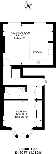 Large floorplan for Shirland Road, Maida Vale, W9