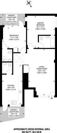 Large floorplan for Child's Hill, Child's Hill, NW2