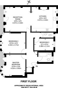 Large floorplan for Duke Street, Mayfair, W1K