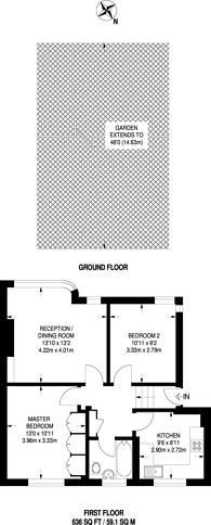 Large floorplan for Shaftesbury Avenue, South Harrow, HA2