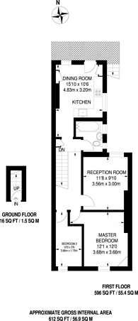 Large floorplan for Brook Road South, Brentford, TW8