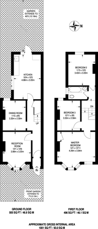 Large floorplan for Park Grove, Stratford, E15