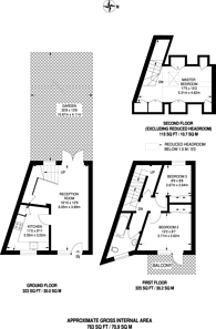 Large floorplan for Beaumont Road, West Hill, SW19