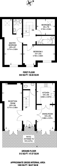Large floorplan for Station Road, Barnes, SW13