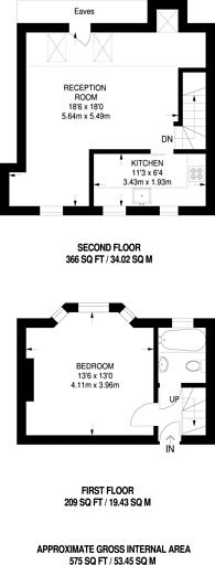 Large floorplan for Mirabel Road, Fulham Broadway, SW6
