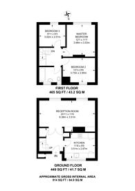 Large floorplan for Frampton Park Road, Hackney, E9