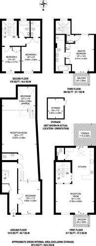 Large floorplan for County Street London, Borough, SE1
