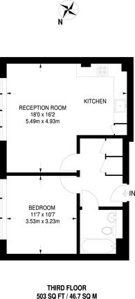 Large floorplan for Vista House, Finsbury Park, N4