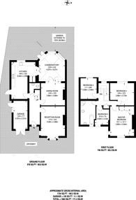 Large floorplan for Salisbury Road, Worcester Park, KT4