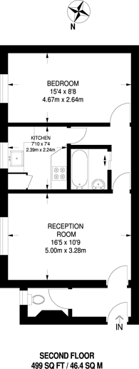 Large floorplan for Stepney Green, Stepney, E1