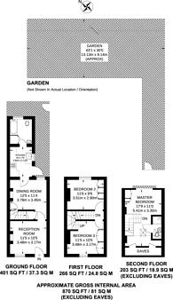 Large floorplan for Sutton Common Road, Sutton, SM3