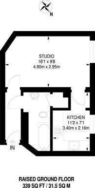 Large floorplan for Bidborough Street, Bloomsbury, WC1H