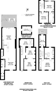Large floorplan for Earls Court Gardens, Earls Court, SW5