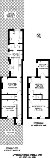 Large floorplan for Bensham Grove, Thornton Heath, CR7