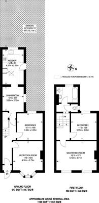 Large floorplan for Birchanger Road, South Norwood, SE25