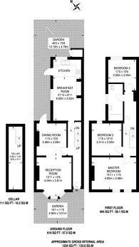 Large floorplan for Braxfield Road, Brockley, SE4