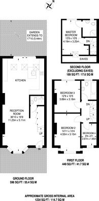 Large floorplan for Ridgdale Street, Bow, E3