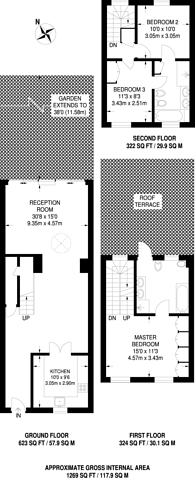 Large floorplan for St Anns Terrace, St John's Wood, NW8