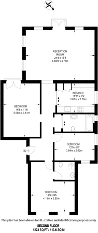 Large floorplan for Redington Road, Hampstead, NW3