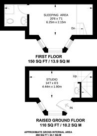 Large floorplan for Lever Street, Clerkenwell, EC1V